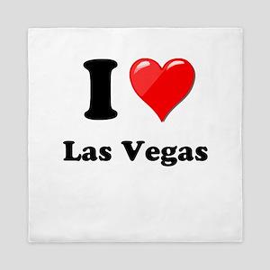 I Heart Love Las Vegas Queen Duvet