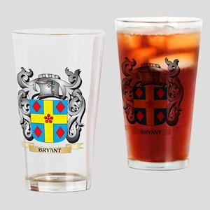 Bryant Family Crest - Bryant Coat o Drinking Glass