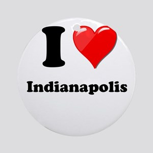 I Heart Love Indianapolis Ornament (Round)