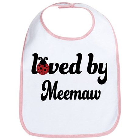 Loved By Meemaw Ladybug Bib