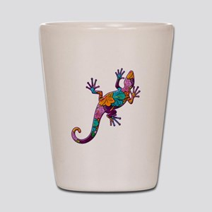 Hibiscus Lizard Shot Glass