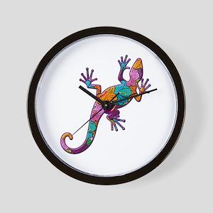 Hibiscus Lizard Wall Clock