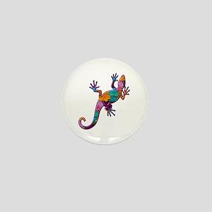 Hibiscus Lizard Mini Button