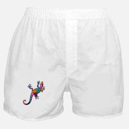 Hibiscus Lizard Boxer Shorts