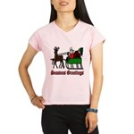 Christmas Santa Sleigh Performance Dry T-Shirt