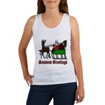 Christmas Santa Sleigh Women's Tank Top