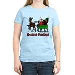 Christmas Santa Sleigh Women's Light T-Shirt
