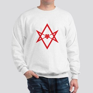 Unicursal hexagram (Red) Sweatshirt