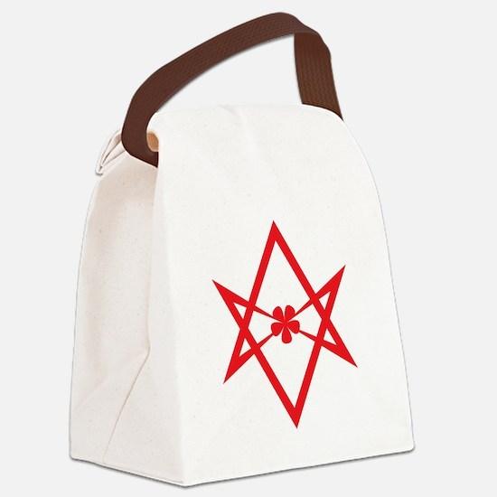 Unicursal hexagram (Red) Canvas Lunch Bag