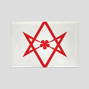 Unicursal hexagram (Red) Rectangle Magnet