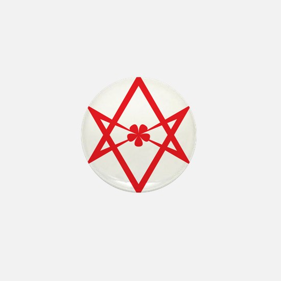 Unicursal hexagram (Red) Mini Button