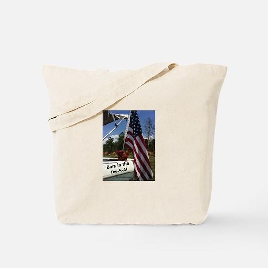 Flag Waving Foo Tote Bag