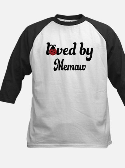 Loved By Memaw Ladybug Kids Baseball Jersey
