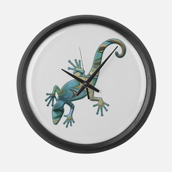 Swirl Lizard Large Wall Clock