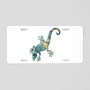 Swirl Lizard Aluminum License Plate