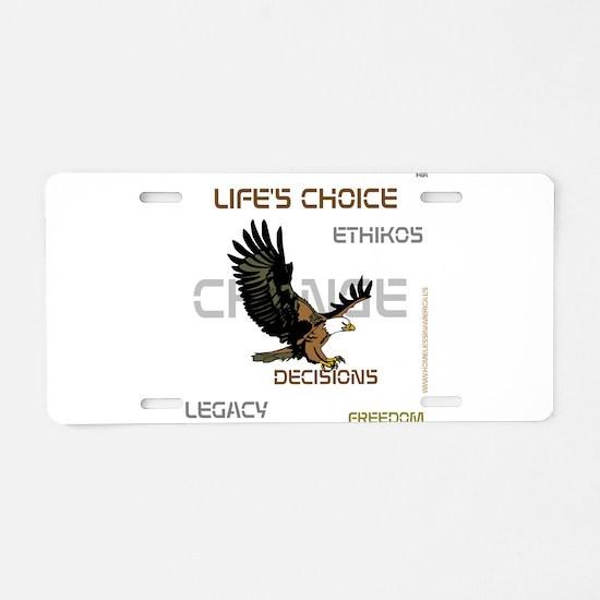 HIA Eagle design Aluminum License Plate