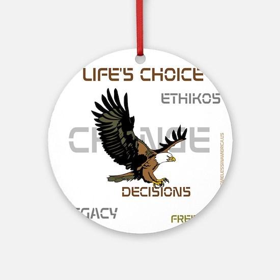 HIA Eagle design Ornament (Round)