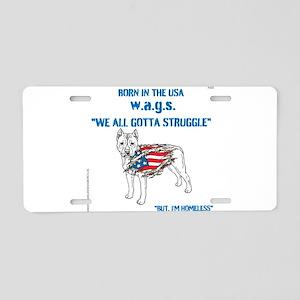 HIA Dog Flag design Aluminum License Plate