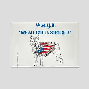 HIA Dog Flag design Rectangle Magnet