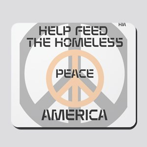 HIA HelpFeedHomeless Peace design Mousepad