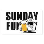Sunday Funday Sticker (Rectangle 10 pk)