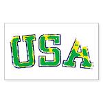 USA Sticker (Rectangle 10 pk)