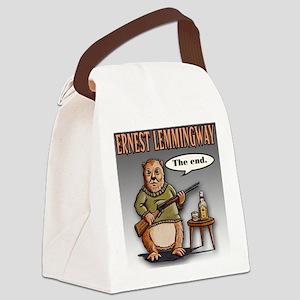 Ernest Lemmingway Canvas Lunch Bag
