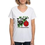 Christmas Red Ball Women's V-Neck T-Shirt