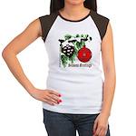 Christmas Red Ball Women's Cap Sleeve T-Shirt