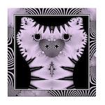 Fractal Kitty Tile Coaster