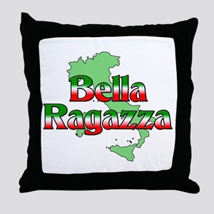 Bella Ragazza Throw Pillow