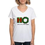 Christmas Ho, A Good Thing Women's V-Neck T-Shirt