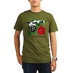 Christmas Red Ball Organic Men's T-Shirt (dark)
