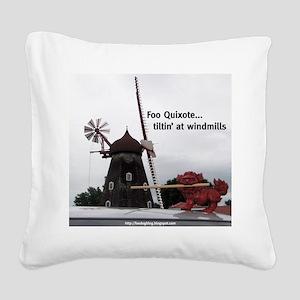 Quixote Foo Square Canvas Pillow