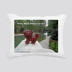Riverwalk Foo Rectangular Canvas Pillow