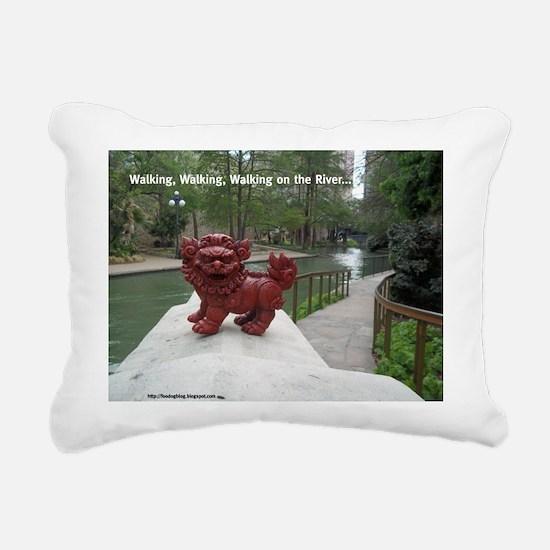 Riverwalk Foo Rectangular Canvas Pillow