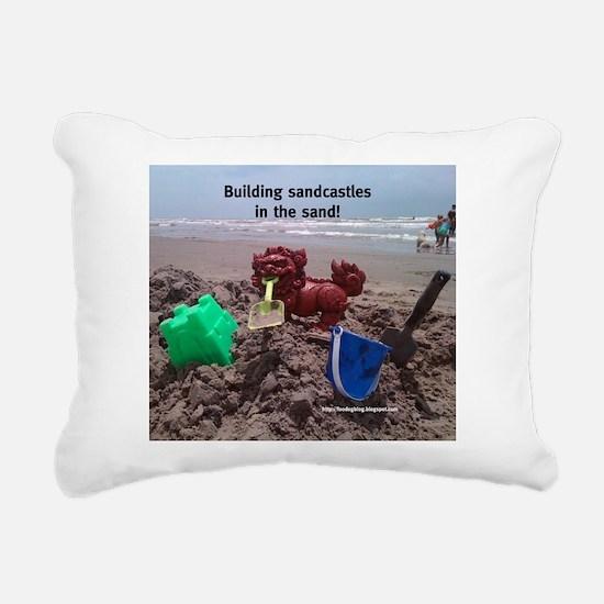 Sandcastle Foo Rectangular Canvas Pillow