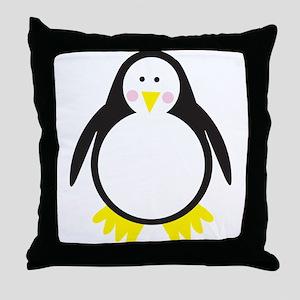pinky penguin Throw Pillow