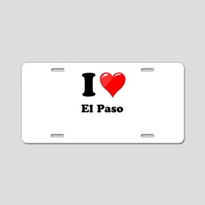 I Heart Love El Paso Aluminum License Plate