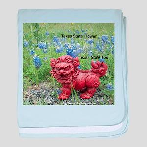 Texas State Foo baby blanket