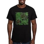 Christmas Pine Cones Men's Fitted T-Shirt (dark)
