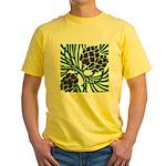 Christmas Pine Cones Yellow T-Shirt