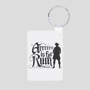 Arrrrrrr is for Rum Aluminum Photo Keychain