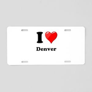 I Heart Love Denver Aluminum License Plate