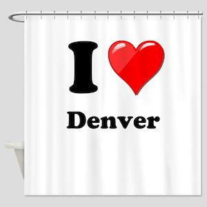 I Heart Love Denver Shower Curtain