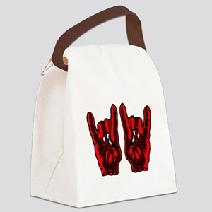 Metal Hands (Malocchio) Red Canvas Lunch Bag