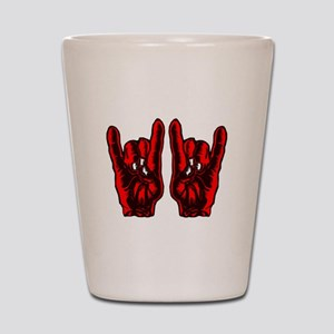 Metal Hands (Malocchio) Red Shot Glass