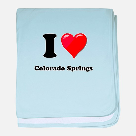 I Heart Love Colorado Springs.png baby blanket