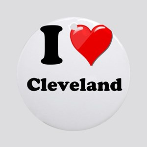 I Heart Love Cleveland Ornament (Round)