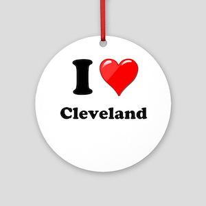 I Heart Love Cleveland Ornament (Round)